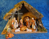 "5"" Fontanini Nativity Scene 8 pc with 11.25"" Wood Stable 54428"