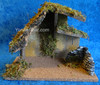 """9.5"""" Fontanini Wood Stable for 5"""" Scale Nativity Figures 50427"""