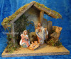 """Fontanini Nativity Scene with 8"""" Wooden Stable 55085"""