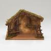 Nativity scene wooden stable