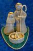 Philippines Nativity Set on Aquamarine Base