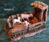 "Sheep Shelter Scene - 5"" Fontanini Nativity Sheep Family Scene s55605C"