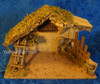 """10.5"""" Fontanini Lighted Wooden Stable for  5"""" Nativity Figures 50429"""