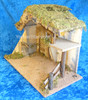 """13.5"""" Lighted Wooden Stable for 7.5"""" Fontanini Nativity 50851"""