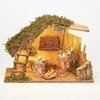 """5"""" Scale Fontanini Nativity Scene 4 pc with 10.5"""" Wood Stable 54429"""
