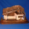 Wooden Stable for LEPI Reindl Nativity
