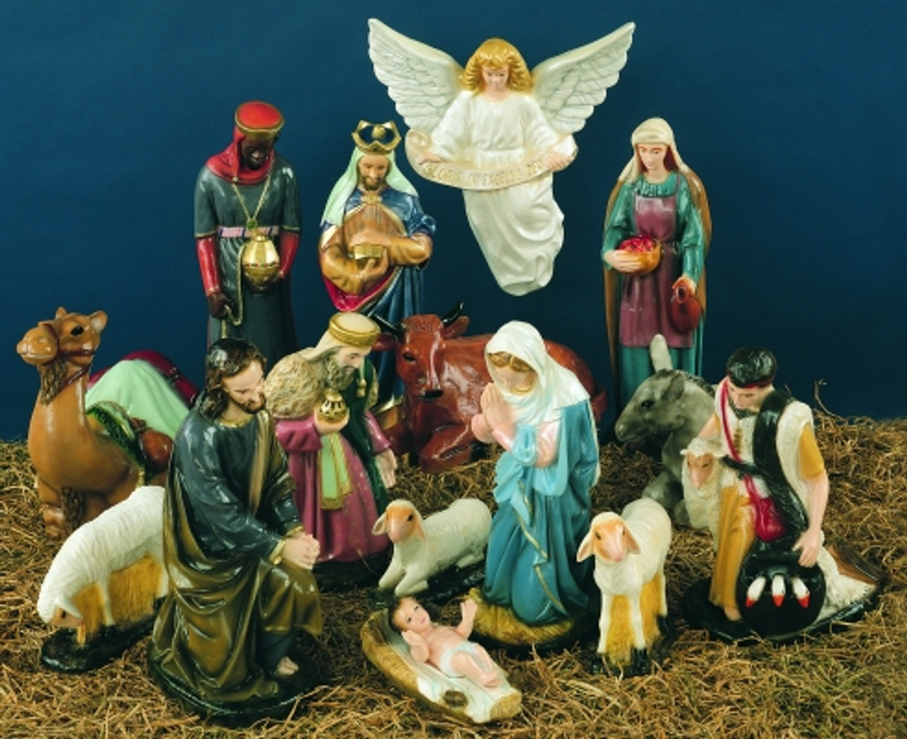 "36"" Full Color Outdoor Nativity Scene 15 Pieces"