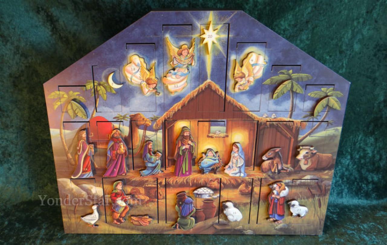 Musical Nativity Advent Calendar Yonder Star Christmas Shop Llc