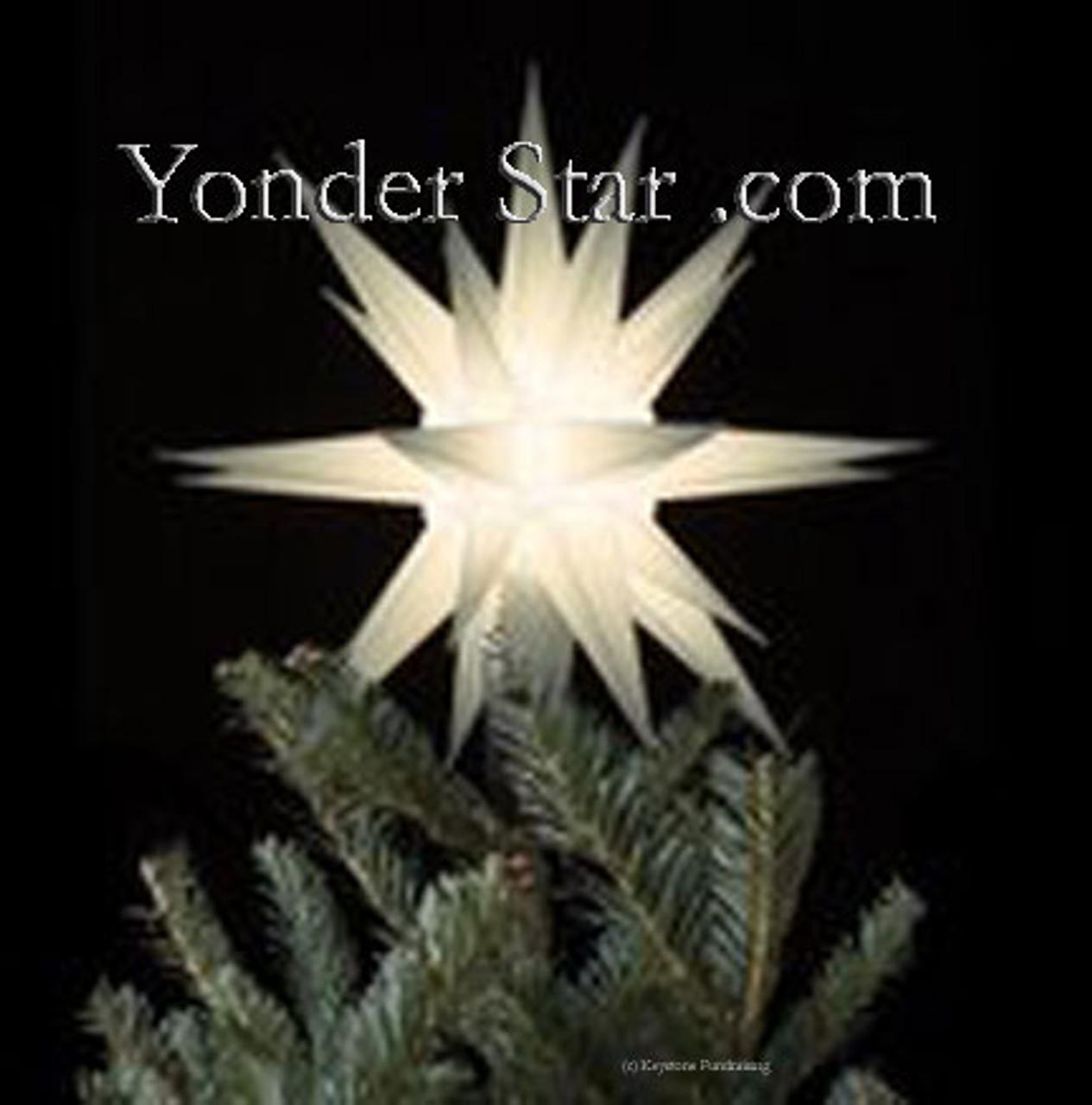 12 Moravian Star Tree Topper White Lighted