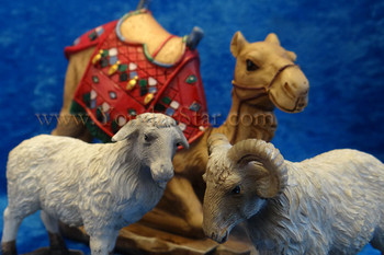 "7"" Scale ""The Real Life Nativity"" Awassi Sheep & Camel Set"