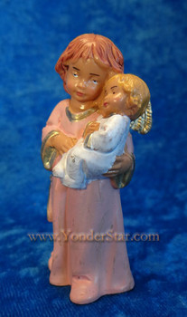 "Bless This Child - 5"" Fontanini Angel with Infant - Pink 65519"