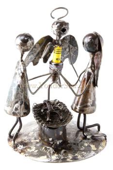 Unique handcrafted metal nativity