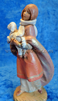 "Emma - 5"" Fontanini Nativity Shepherdess w Lamb 54079"