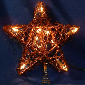 "9"" Rattan Star Tree Topper"