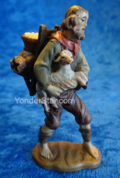 Shepherd w Load and Lamb Reindl LEPI Nativity
