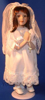First Holy Communion Doll Brunette