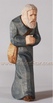 Wood carved Swiss figure