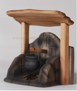 Swiss nativity hearth