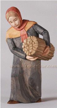 Swiss nativity woman