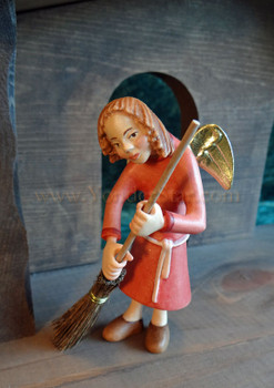 angel with broom