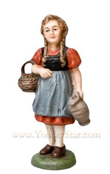 Marolin German nativity girl with basket