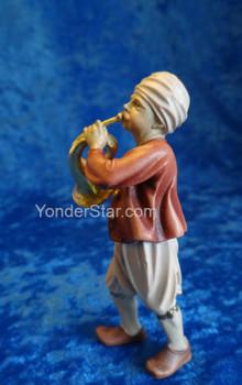 Musician w Horn for LEPI Nazarene Wooden Nativity