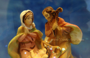 Musical Fontanini Nativity Lighted Glitterdome 59083