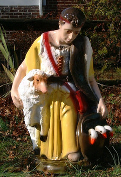 "36"" Scale Color Outdoor Nativity Set Shepherd with Sheep"