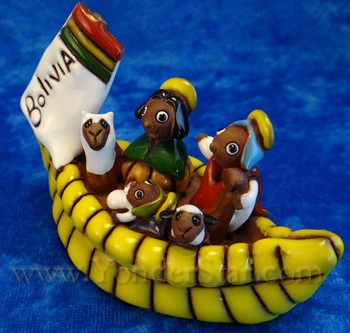 Fair Trade pottery nativity from Bolivia