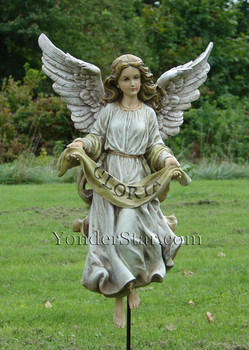 outdoor nativity angel