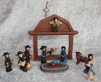 Amish nativity scene