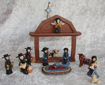 Amish nativity scene