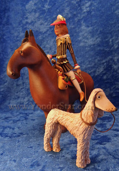 Kastlunger nativity horseman with hound