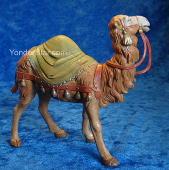 "Camel w Saddle Blanket - 5"" Fontanini Nativity 72526"