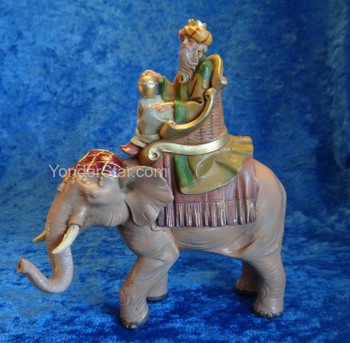 "Gaspar on Elephant - 5"" Fontanini Nativity Wiseman  65287"