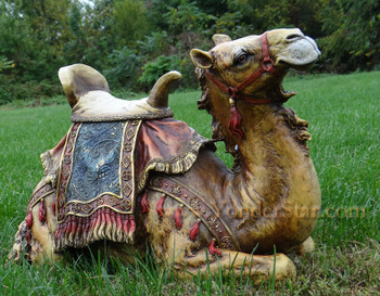 Outdoor nativity camel