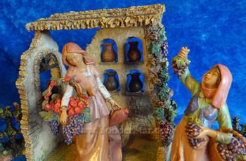 "Wine Shop Scene - 5"" Fontanini Nativity Market  s55579"