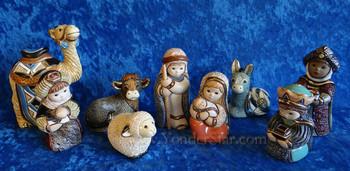 Uruguay Rinconada nativity 9pc