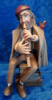 Traveling flute player Kastlunger nativity