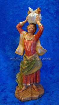 Fontanini nativity woman with chicken