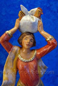 Fontanini nativity Candace with chicken