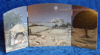 "9"" Fontanini Nativity Background for 5"" Nativity Figures 54330"