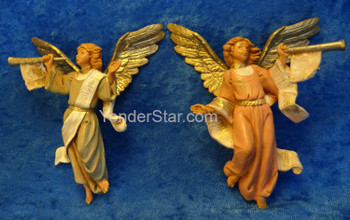 "Trumpeting Angels - 5"" Fontanini Nativity set of 2  51503"