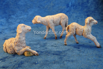 "Sheep Family - 5"" Fontanini Nativity Animals 51539"