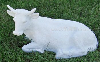 White Outdoor Nativity Scene Ox