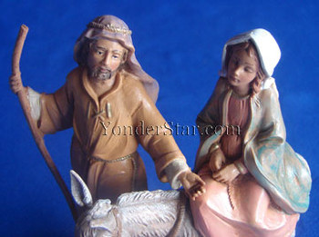 "Journey to Bethlehem - 5"" Fontanini Nativity Holy Family 51502"