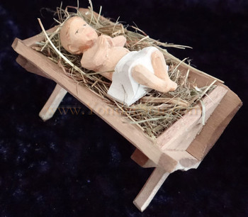 Wood carved Baby Jesus