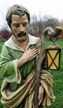 Joseph outdoor nativity scene