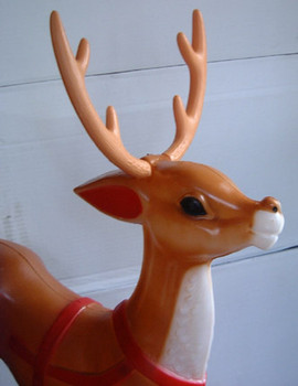 One Extra Reindeer for Lighted Outdoor Santa in Sleigh
