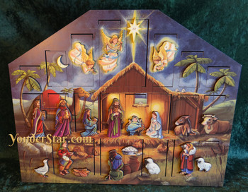 Wooden Nativity Advent Calendar